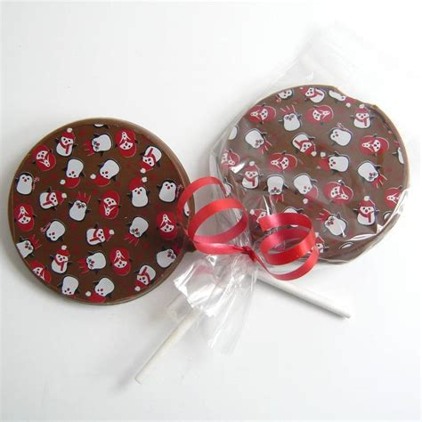 Handmade Chocolate Decorations - chocolate lollies set of 10 by chocolate by