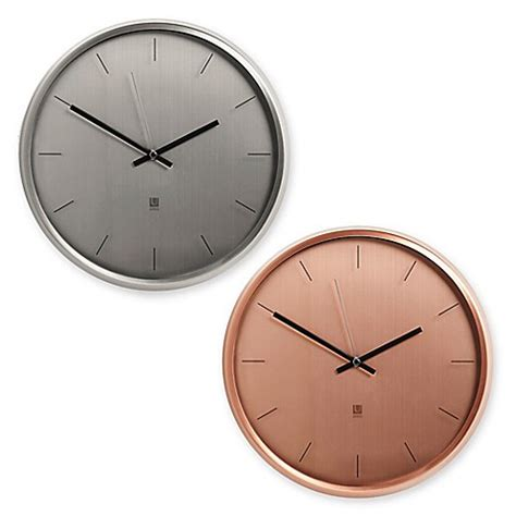 bed bath beyond clocks umbra 174 metal wall clock bed bath beyond