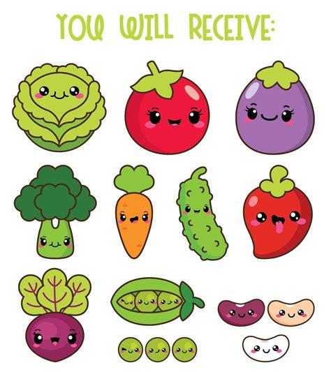 imagenes de comida saludable kawaii 30 off kawaii vegetables clipart kawaii veggies clipart