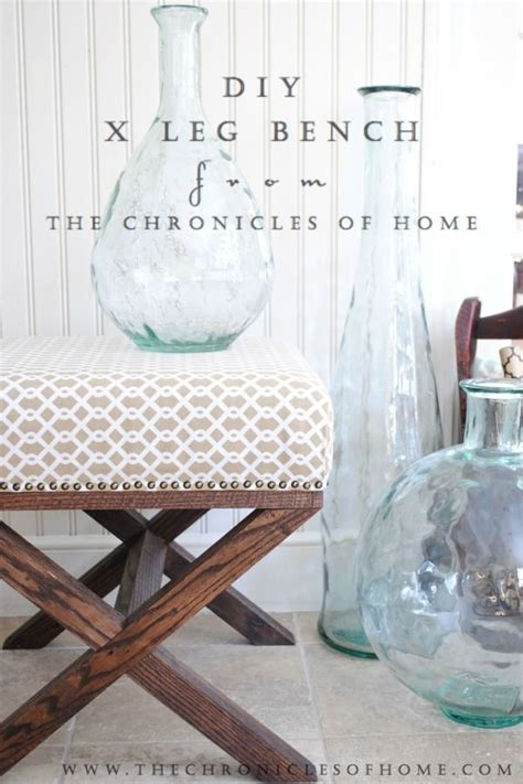 Vanity Stool Tutorial Tutorial For Diy X Bench Ottomans Vanities And The Glass