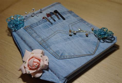 diary cover from denim