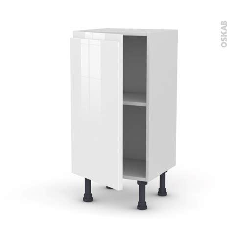 meuble de cuisine blanc brillant meuble de cuisine bas ipoma blanc brillant 1 porte l40 x