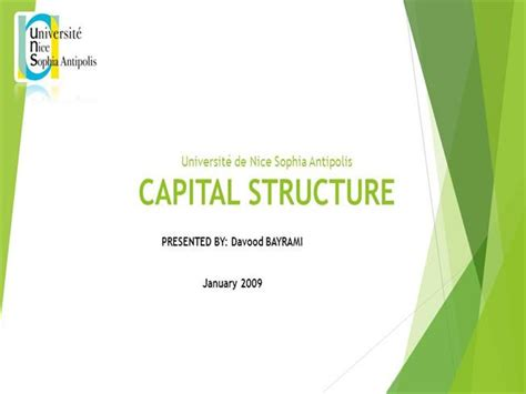 Mba Ppt On Capital Structure by Capital Structuredefinition Meaning Authorstream