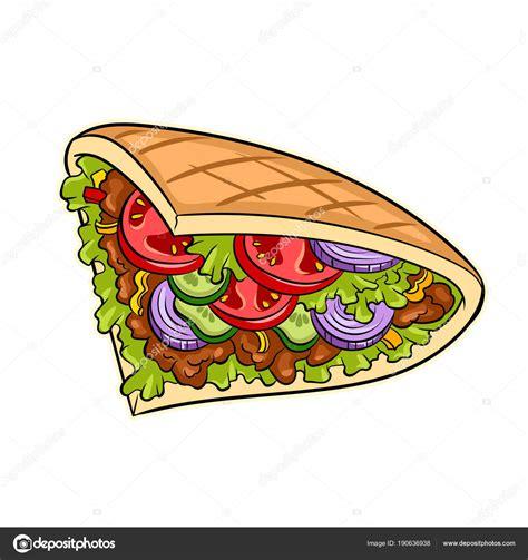 kebab clipart d 246 ner kebab pop vektor illustration stockvektor