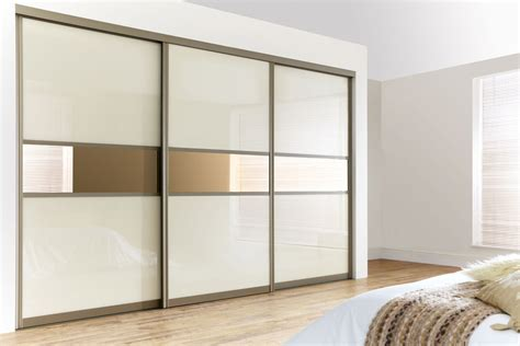 Glass Door Wardrobe Designs Curved Bronze Frame With Pearl White Glass Bronze Mirrors Design Your Own Sliding Wardrobe
