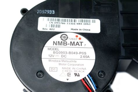 Nmb Mat Bg0903 B049 P0s by Genuine Dell Nmb Mat Bg0903 B049 P0s 4 Wire 5 Pin Dc 12v