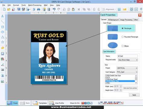 printable id cards maker id card maker software generate printable color student
