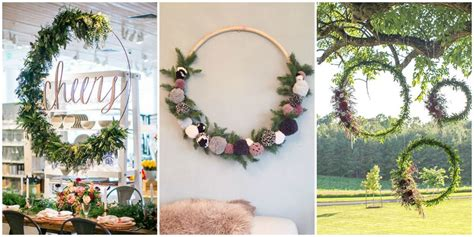prop up some art 15 easy christmas decorations real simple party decor trend hoola hoop wreaths life the place to be