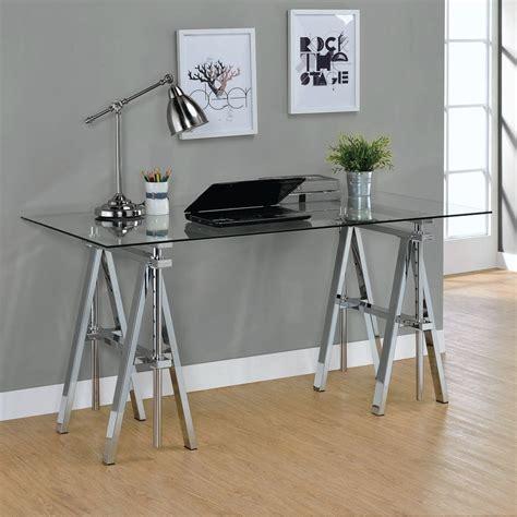 chrome sawhorse table legs chrome finish adjustable height sawhorse style desk