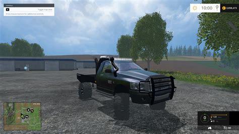 cummins pickup bed log truck for fs15 farming simulator lifted cummins flatbed fixed modhub us