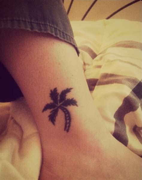 palm tree ankle tattoo palm tree tattoos