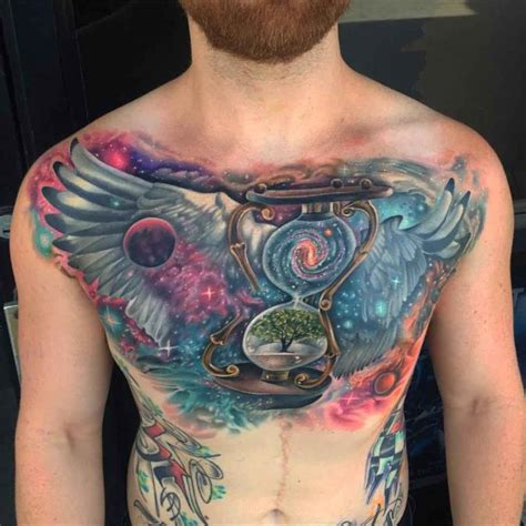 universe tattoo on chest space chest tattoos www pixshark com images galleries