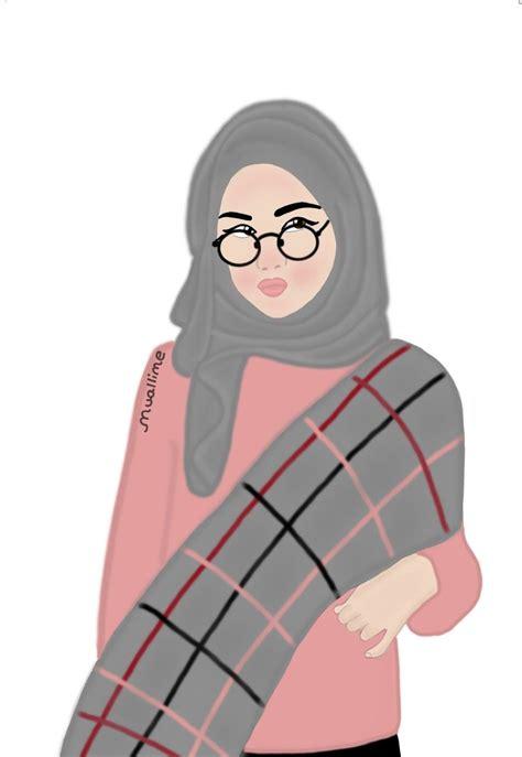 pin  maya  tumblr hijab cartoon hijab fashion