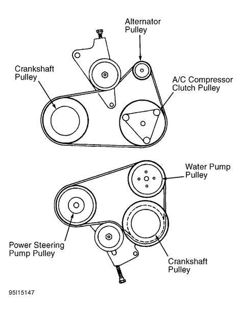 belt routing diagrams 1996 ford contour serpentine belt routing and timing belt