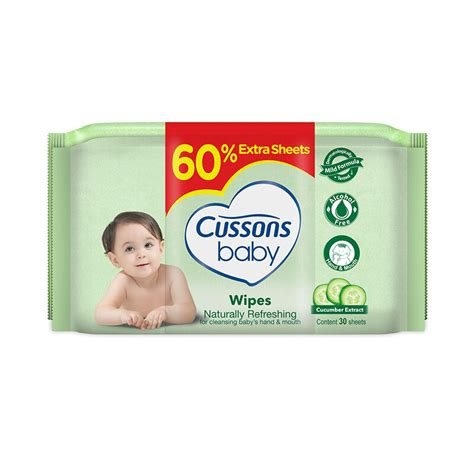 Cussons Baby Wipes Mild Gentle 30s jual cussons baby wipes naturally refreshing 50 s 30 s