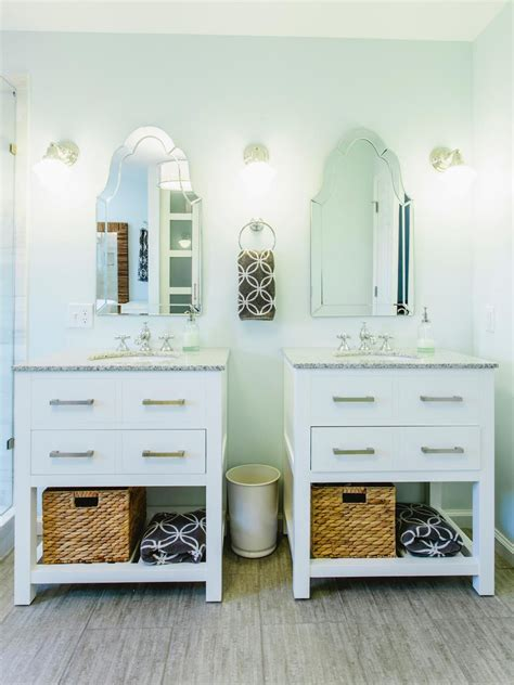 single in master bath two single vanities were used to give the owners a double