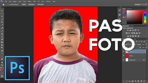mudah membuat pas foto  photoshop tutorial