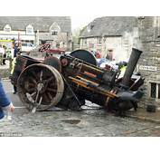 Drinkers Rocked When Runaway Vintage Steam Roller Smashes