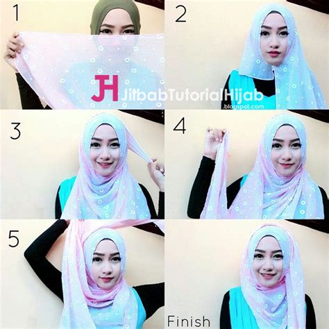 tutorial hijab simple dan gang 5 tutorial hijab segi empat simple tapi mewah dan elegant