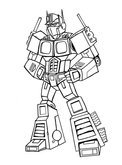 Optimus Prime Coloring Page by Optimus Prime Coloring Pages Printable Coloringstar