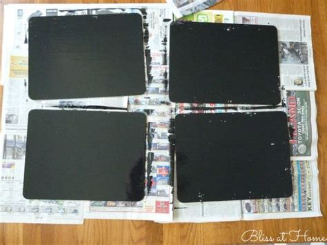 diy chalk paint troubleshooting diy chalkboard paint placemats inspiration chalkboard