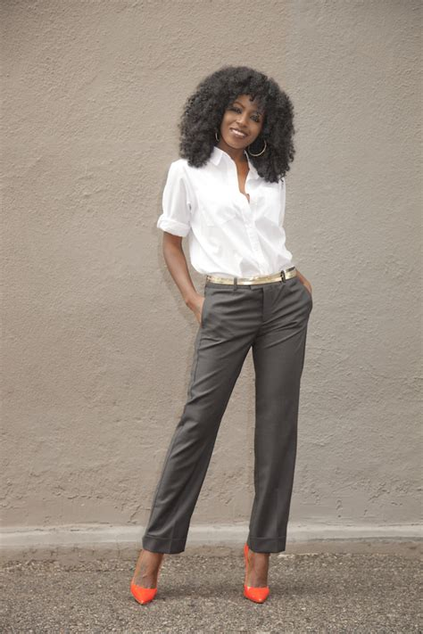 The Style Pantry by Boyfriend Shirt Ankle Length Trousers Style Pantry
