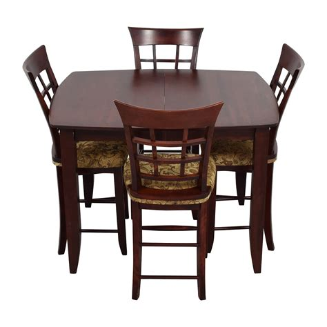table and four chairs 90 skovby skovby sm 24 dining table with butterfly