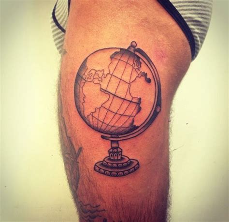 globe tattoo globe tatted