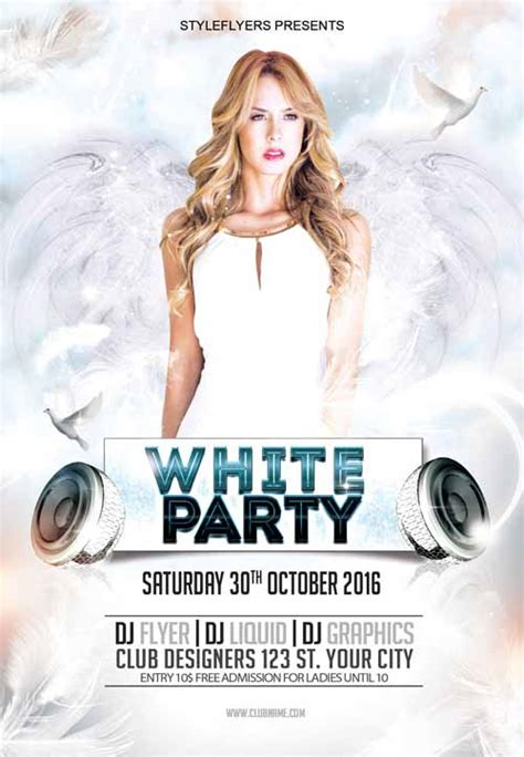 White Flyer Template Free white free flyer template free psd flyer