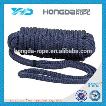 18mm polyester double braided tugboat rope with eye splice - Tugboat Rope