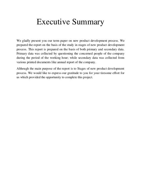 New Product Development Essay by Term Paper On New Product Development Process