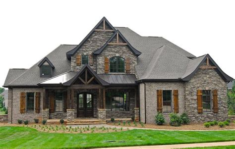 brick exterior homes brick and rock work and columns house plans and exterior
