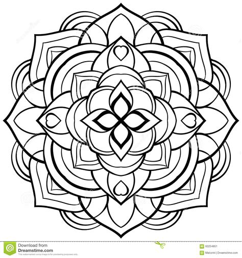 coloring book vector vector mandala for coloring book stock vector image