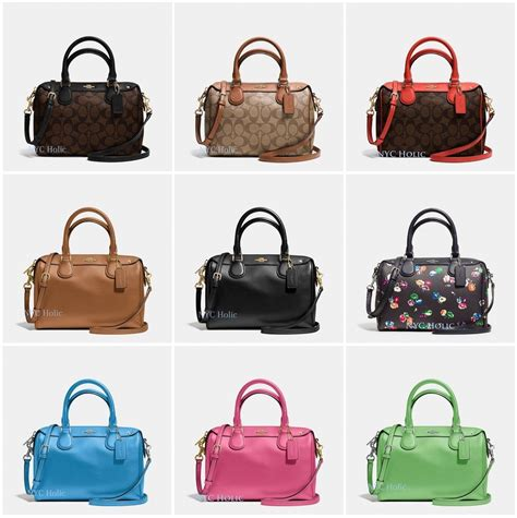 Coach Mini Bennet Patchwork 1 new coach f36624 mini satchel in crossgrain leather signature canvas nwt ebay