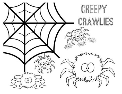 happy spider coloring page 10 halloween coloring pages for kids tip junkie