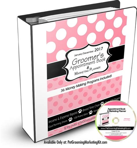 Dog Grooming Appointment Book Grooming Appointment Templates