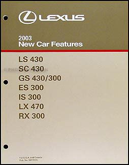 buy car manuals 2003 lexus sc user handbook 2003 lexus rx 300 navigation system owners manual original
