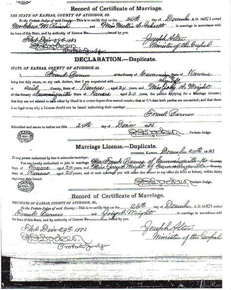 Urnes marriage licenses