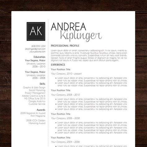 modern resume template resume template cv template word for mac or pc