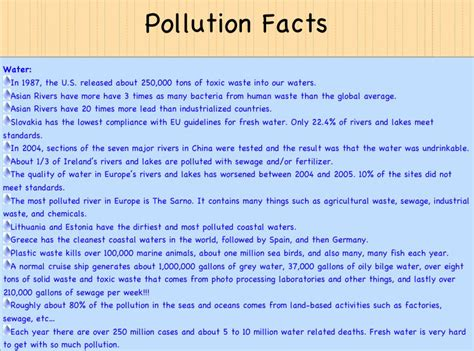 7 Facts On by Pin Land Pollution Facts On