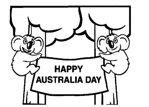 Australia Day Coloring Pages australia coloring page coloring home