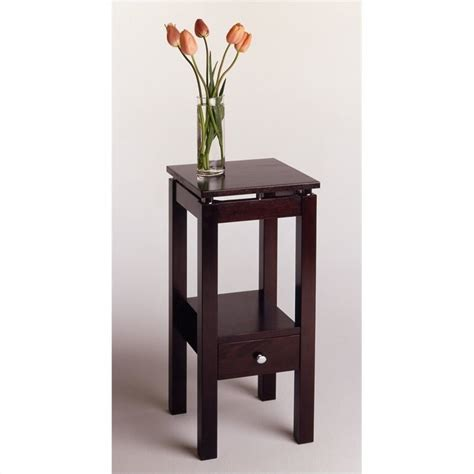 chrome accent tables winsome linea brown wood end w chrome s accent table ebay