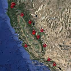 southern california fires today map current wildfires in california map california map