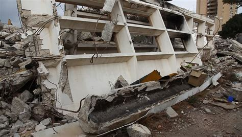 earthquake footage rubble after rocket attack earthquake stock footage video
