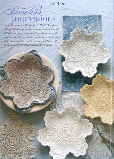 lace crafts projects cool pottery made from clay and lace clay pottery