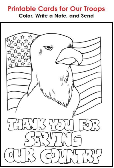 Send A Card To The Troops by Printable Cards That Students Can Color Write A Message