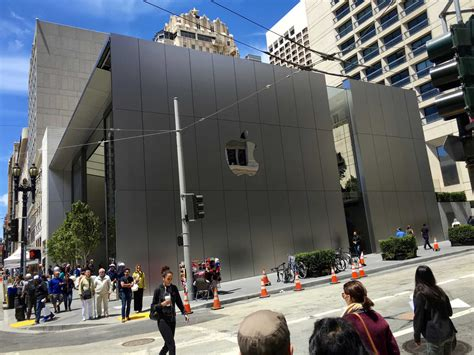 apple union square check out the crazy detail at apple s new san francisco store