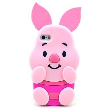 Ganeva Flower Black modelo rosado cerdo caso suave de silicona para el