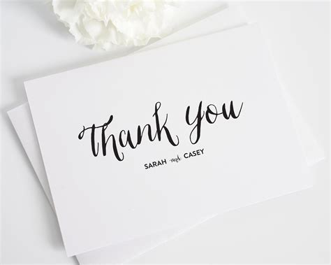 Wedding Shower Thank You Card Exles