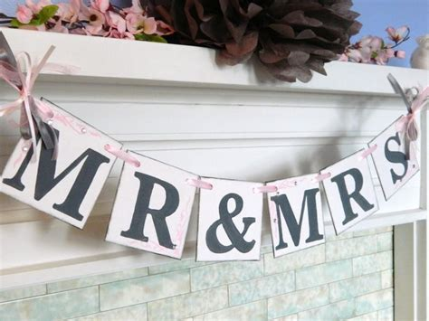 Wedding Banner Mr And Mrs by Mr And Mrs Wedding Banner Wedding Garland And